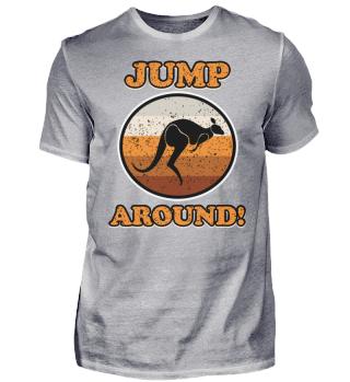 Il canguro sta saltando