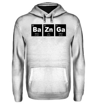 Chemical Elements BaZnGa white