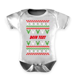 dein eigener Text Ugly Christmas Sweater