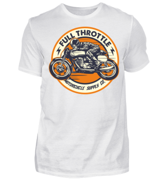 Full Throttle retro racer clean orange
