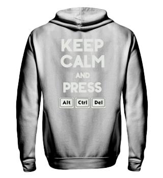 Keep Calm ALT CTRL DEL - grey