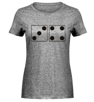 Würfel Punkte 3 + 4 - schwarz