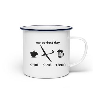 Emaille Tasse für Segelflieger