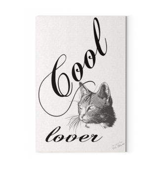 Canvas: Cool Cat Lover / Katzenfreund
