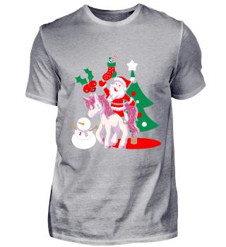 Einhorn Santa Weinachten Geschenk