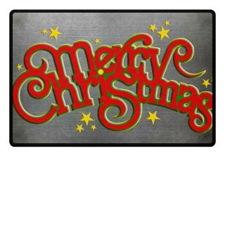 Merry Christmas Stars - Vintage Font