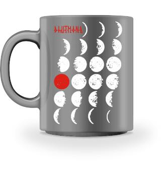 Mondphasen mit mysthischem Blutmond