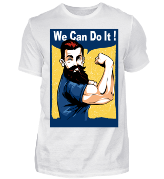Herren Kurzarm T-Shirt We Can Do It
