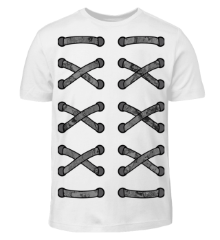 ♥ Double Cross Lacing - gray black I