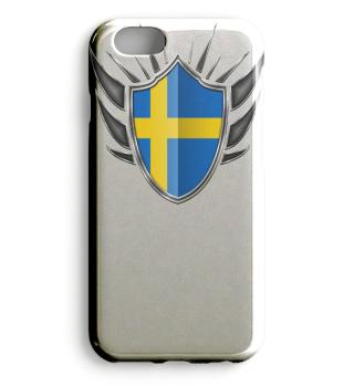 Schweden-Sweden Wappen Flagge 013