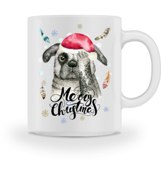 ☛ Merry Christmas · Boho Dog · Hund #9BT