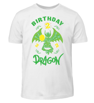 Birthday Boy 2 Dragon T-Shirt Funny Gift
