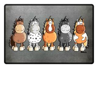 Lustiges Pferde Team