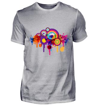 Graffiti Circles Color Splatter