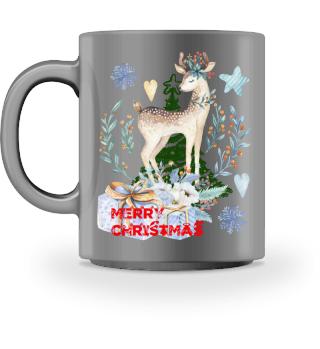 ♥ MERRY CHRISTMAS · DEER #8HT