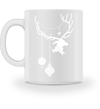 Christmas Deer with Ornaments III