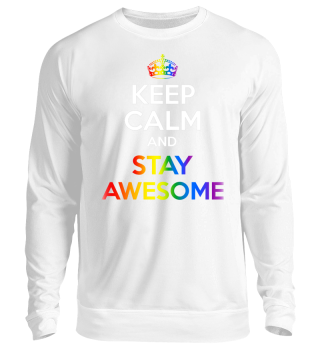 LGBT SHIRTS - KEEP CALM - STAY AWESOME