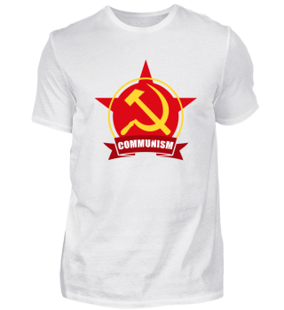 Communism Red Army Star Banner Badge