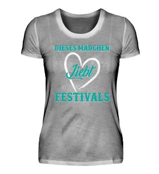 Dieses Mädchen liebt Festivals