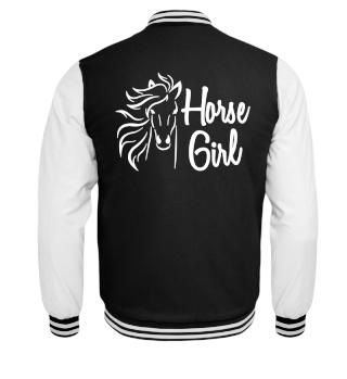 Horse Girl College Jacket Gift Idea