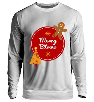 Bitcoin - Merry Bitmas - Ugly Christmas Pullover Bitcoin