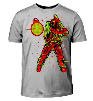 ★ Christmas Space Baseball Player II