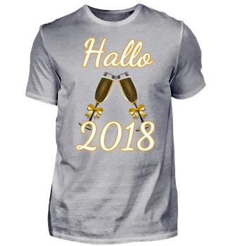 Silvester Hallo 018 Geschenk Shirt