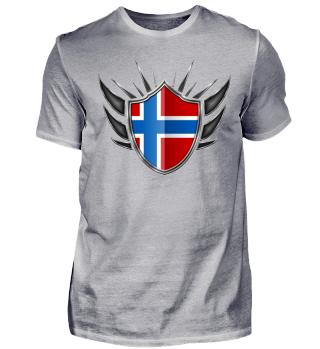 Norwegen-Norway Wappen Flagge 013