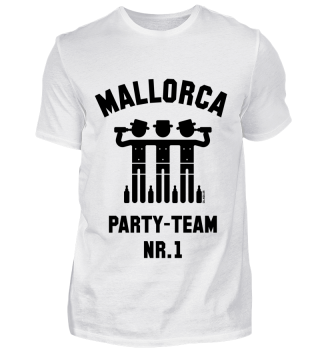 Mallorca Party Team Nr. 1 (Bier / Urlaub) Black