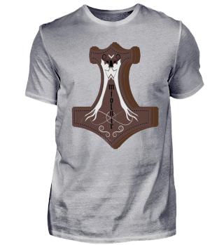 mjolnir metal thor hammer viking shirt