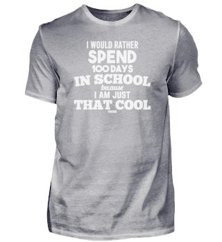 100 days school funny nerd saying