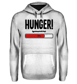 Agressionspotential - hunger - schwarz