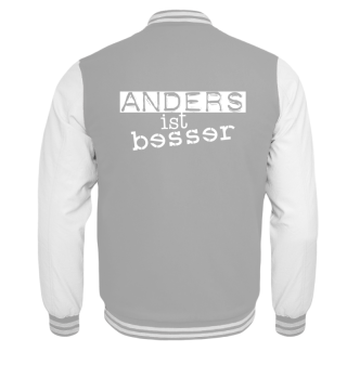 Cool Message - Anders Ist Besser - weiss