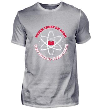 Atom T-Shirt Nerd Geek Physik Geschenk