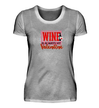 lustiges Wein Valentinstag Shirt