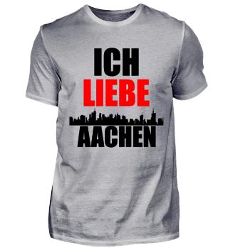 Meine Stadt T-Shirt ich liebe Aachen