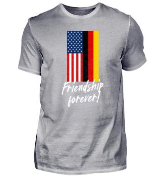 Deutschland USA Friendship Forever Shirt