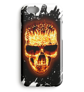 Celtic Gothic Fire Skull Case