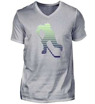 Ice Hockey Player Silhouette Design