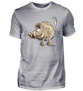 Lustige Wildsau - Wildschwein - Comic