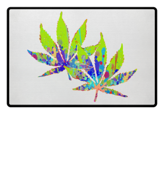 ★ Crazy Colored Marijuana Leaves 2a