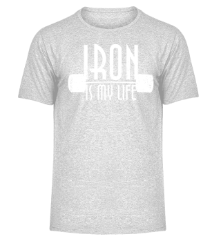 IRON is my life - dumbbells - Hoodie