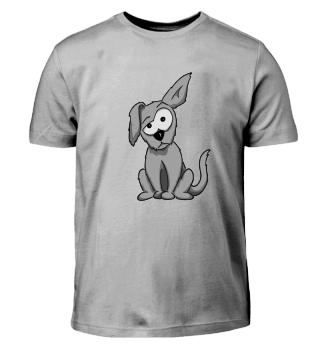 lustiger Hund Comic Geschenk silly dog