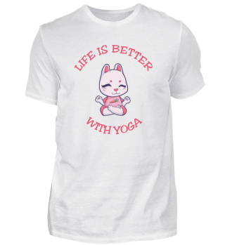 Life Is Better With Yoga Kinder Hase