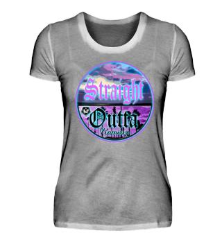 Damen Kurzarm T-Shirt Sraight Outta W Ramirez