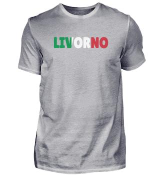 Livorno Italy flag Sardinia Gift