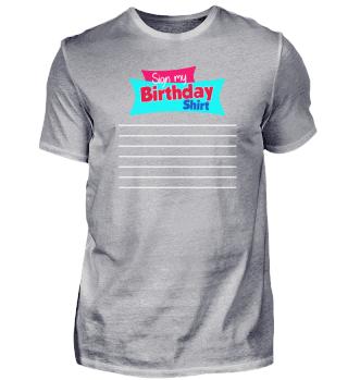 Sign My Shirt Party Idea