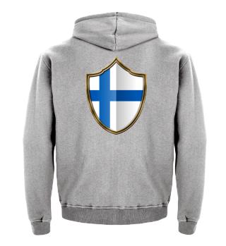 Finnland-Finland Wappen Flagge 016