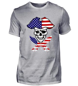Amerika USA Pirate Flag Geschenk