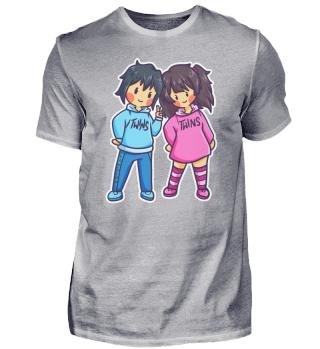 Twins Girl Boy Woman Man Family Gift